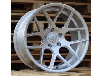 Alu kola Haxer 20x10 5x120 ET0 74.1 stříbrné