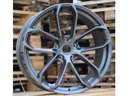 Alu kola design Porsche 22x9.5 5x130 ET46 71.6 šedé