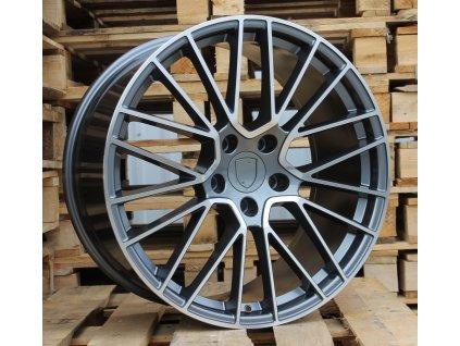 Alu kola design Porsche 22x10 5x130 ET48 71.56 šedé