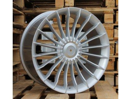 Alu kola replika Alpina 17x7.5 5x120 ET34 72.6 stříbrné