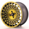 Alu kola Japan Racing JR14 16x8 ET25 4x100 Matt Black w/Gold Finish
