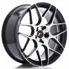Alu kola JAPAN RACING JR18 20x8,5 ET20-40 5H BLANK Gloss Black Machined Face