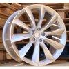 Alu kola design Tesla 22x10 5x120 ET35 64.1 stříbrné