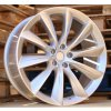 Alu kola design Tesla 22x9 5x120 ET35 64.1 stříbrné