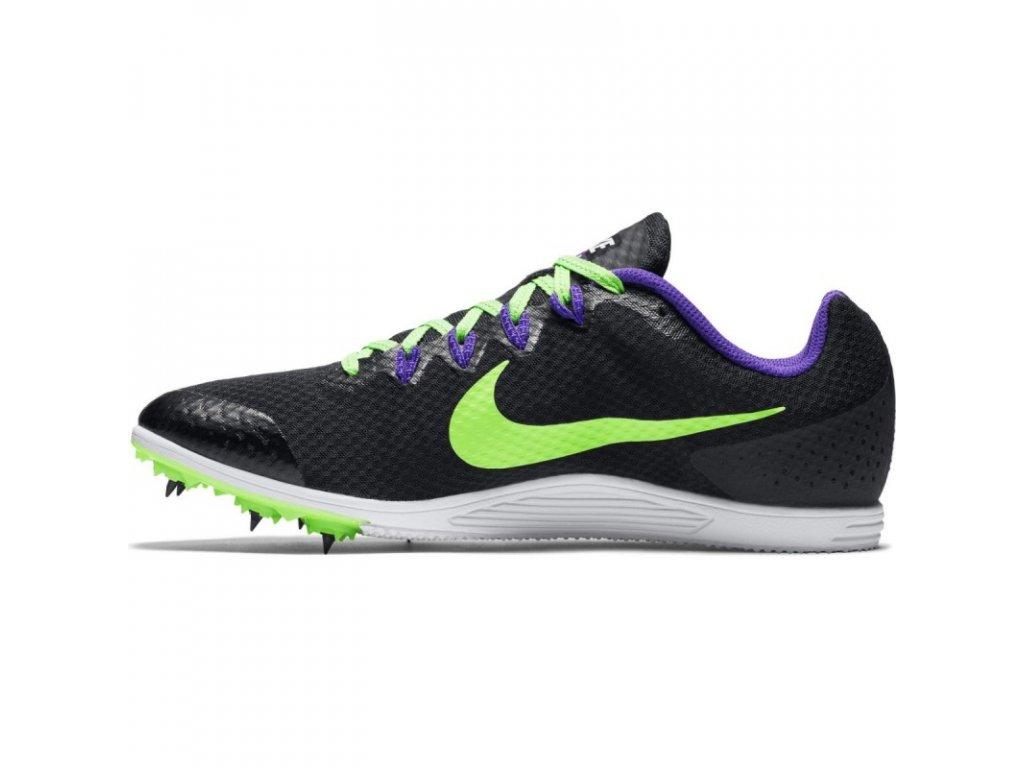 nike zoom rival d 9 black green purple 1