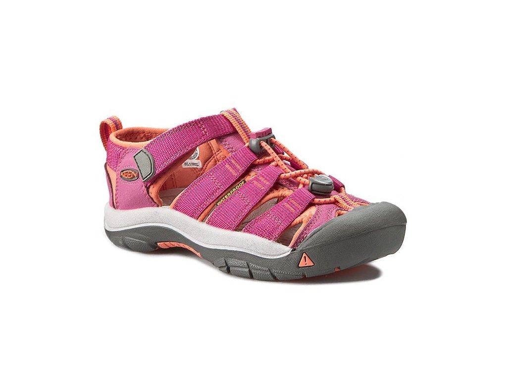 Dětské letní sandály KEEN NEWPORT H2 K/JR - růžové