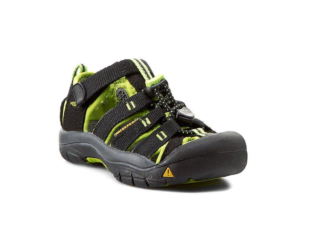 Dětské letní sandály KEEN NEWPORT H2 K/JR - černé/zelené