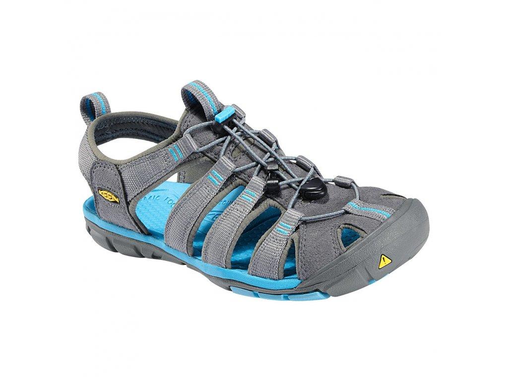 Dámské superlehké sandály KEEN CLEARWATER CNX W - šedé/modré