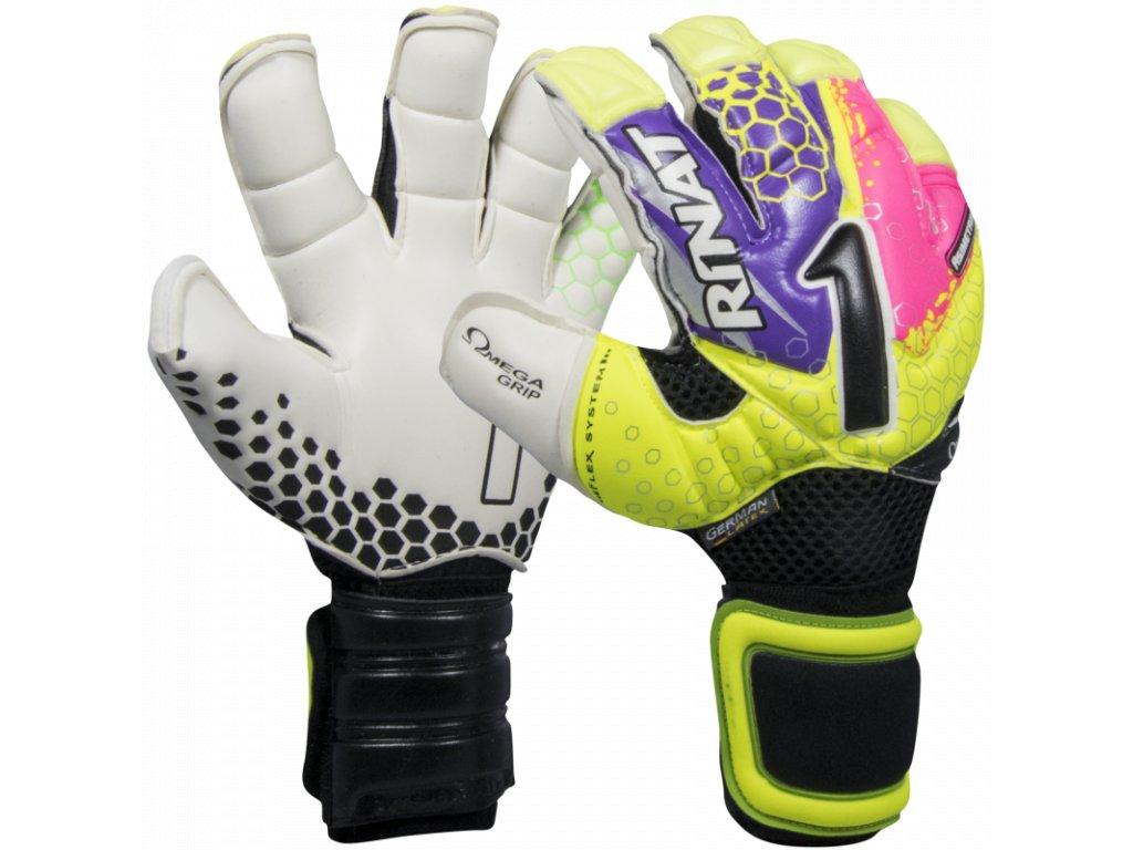 Brankářské rukavice Rinat Asimetrik 2.0 PRO žlutá/růžová 1