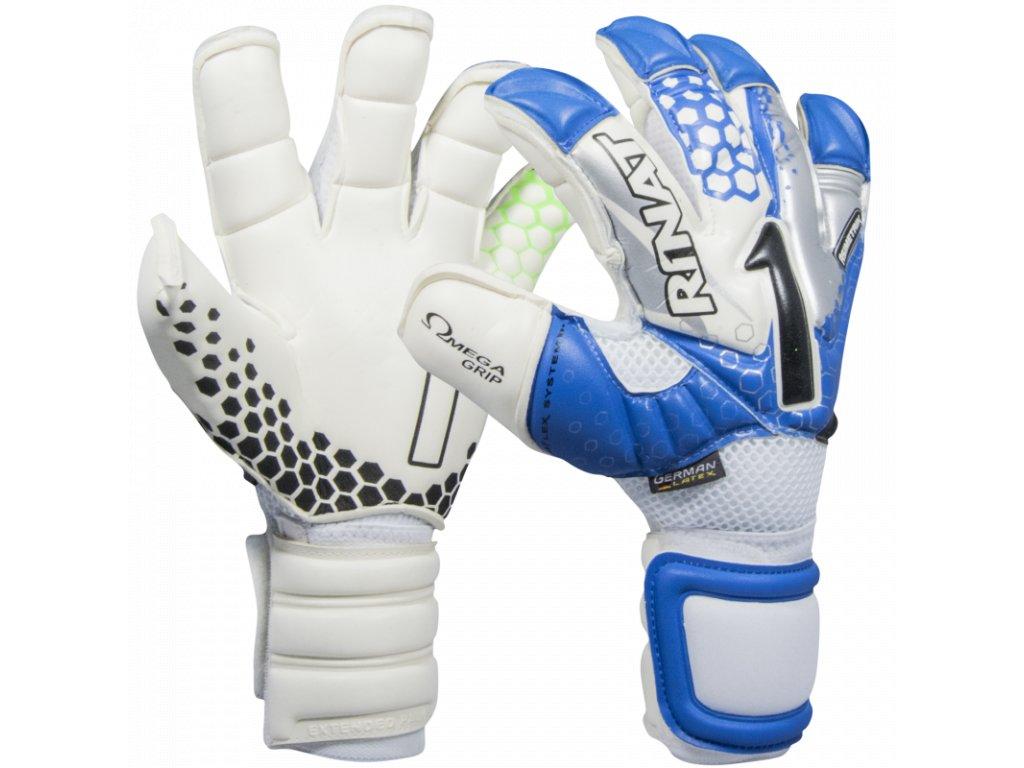 Brankářské rukavice Rinat Asimetrik 2.0 PRO bílá/modrá 1