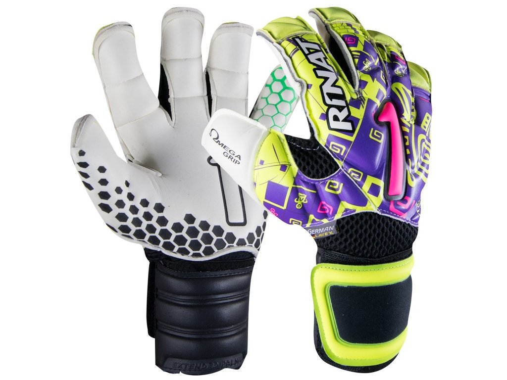 brankarske rukavice rinat asimetrik Etnik pro zluta fialova