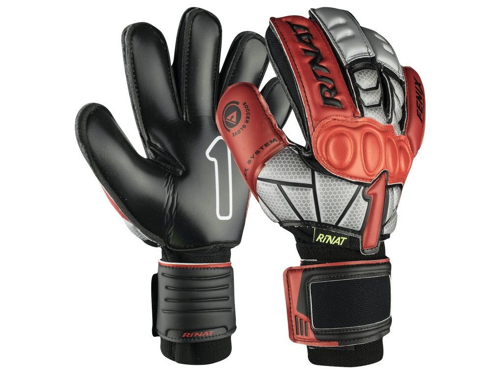 brankarske rukavice rinat Fenix NRG Semi cerna cervena