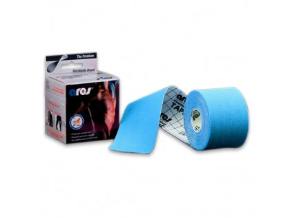 ARES kinesio tape 5cm x 5m modrá