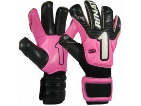 Brankářské rukavice Rinat Imperator PRO 2.0 černá/růžová 1