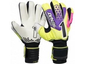 Brankářské rukavice Rinat Asimetrik 2.0 SEMI žlutá/růžová
