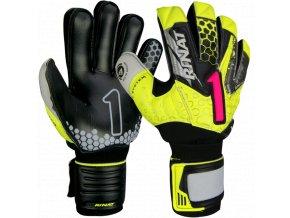 Brankářské rukavice Rinat Asimetrik 2.0 SEMI žlutá/černá