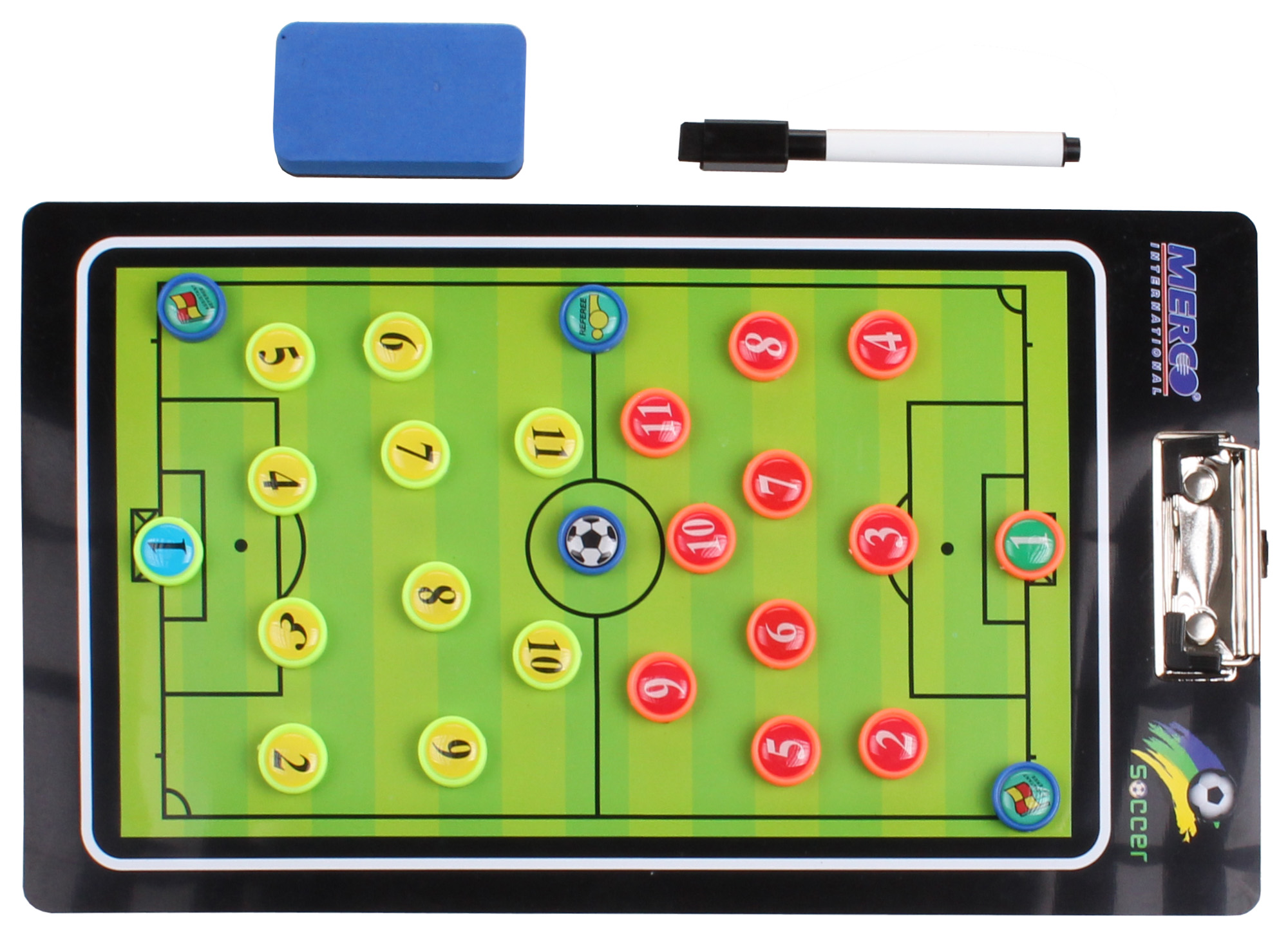 Fotbal 64 magnetická trenérská tabule, s klipem