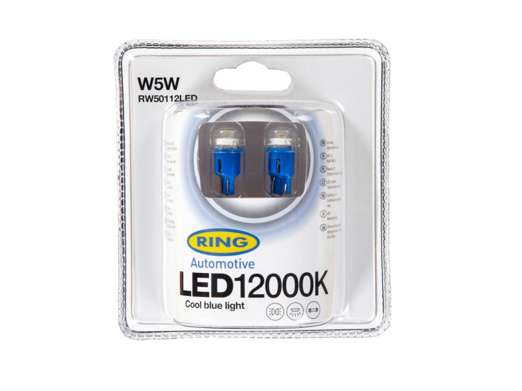 RING LED W5W 12000K 2ks