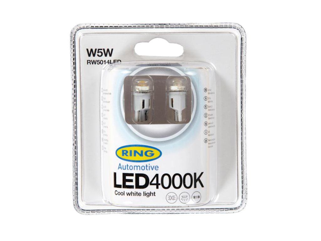 RING LED W5W 4000K 2ks