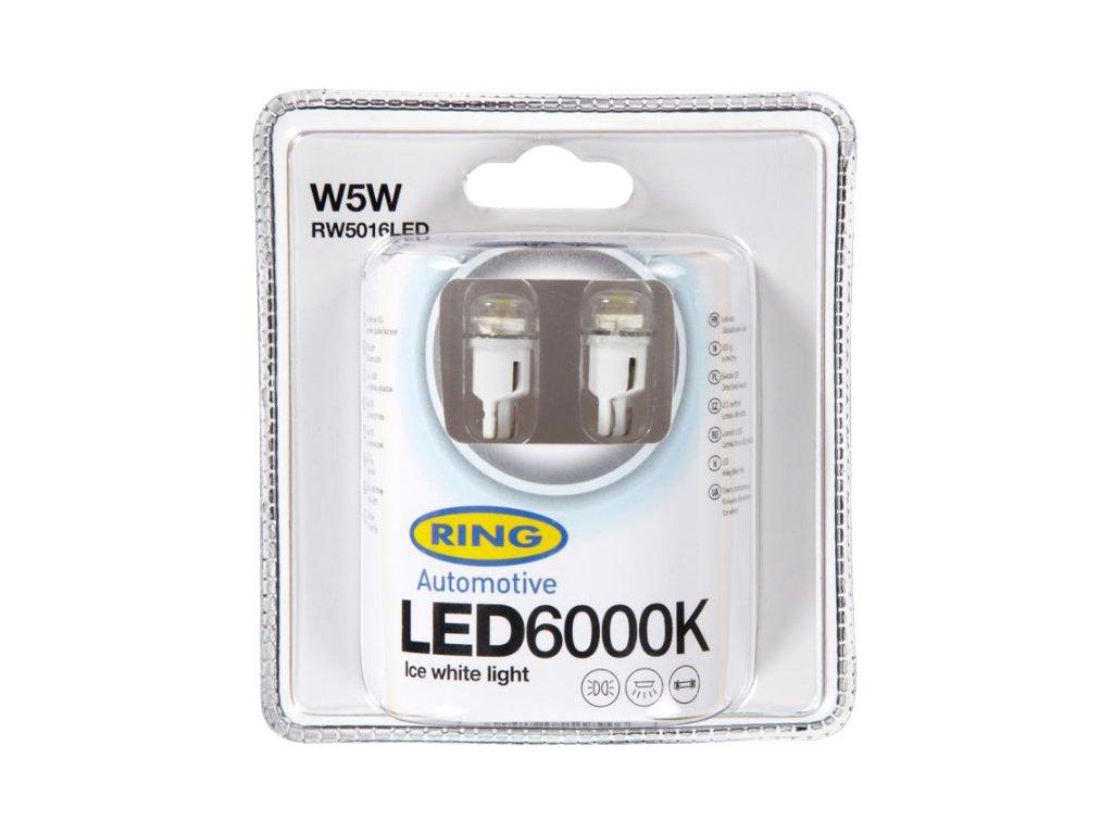 RING LED W5W 6000K 2ks