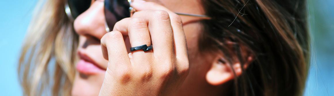 Step - Original carbon fiber black ring Ringblack