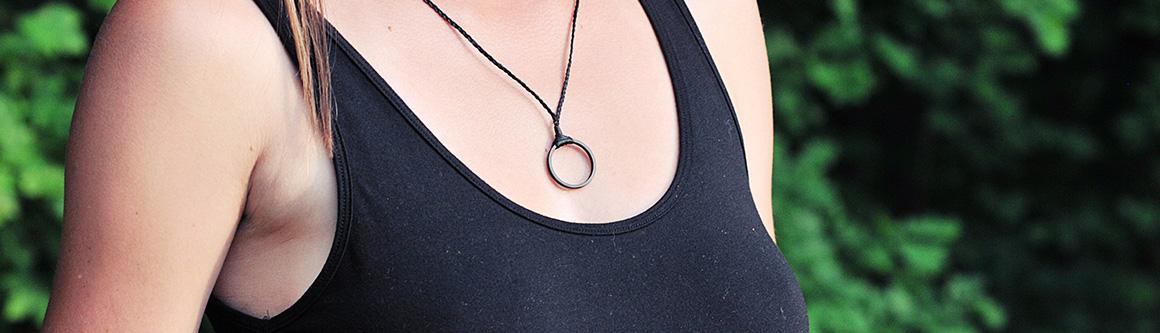 Original carbon fiber black pendant Ringblack