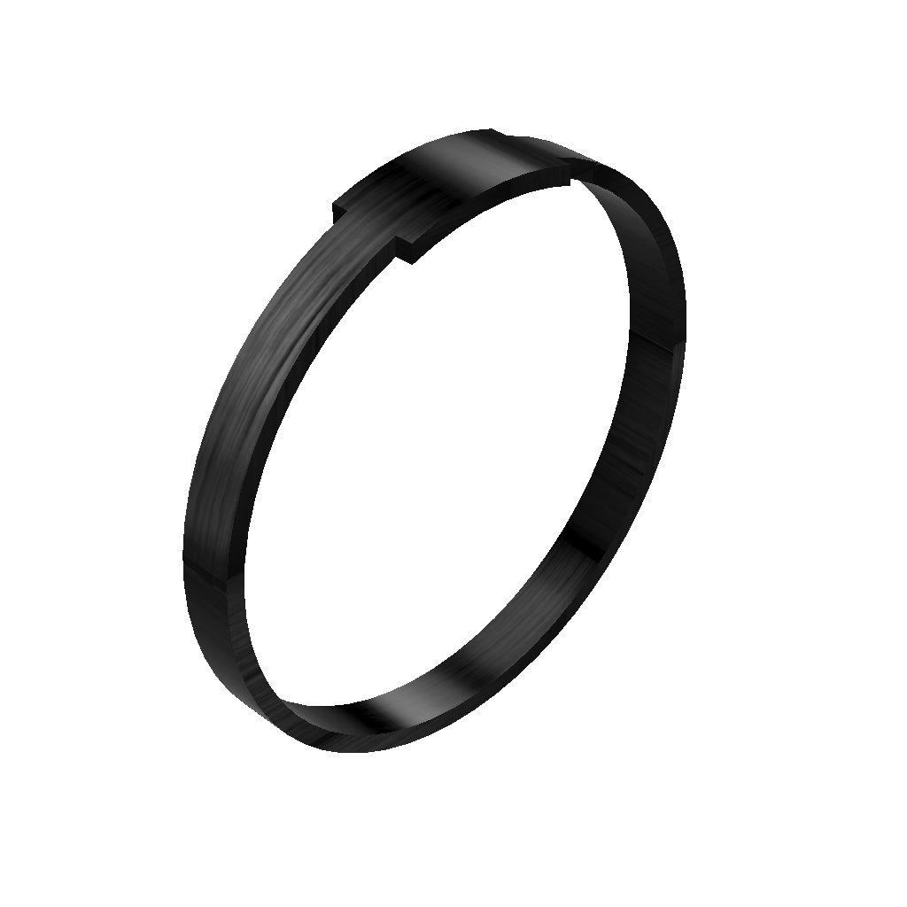 Ringblack carbonfiber ring wave1