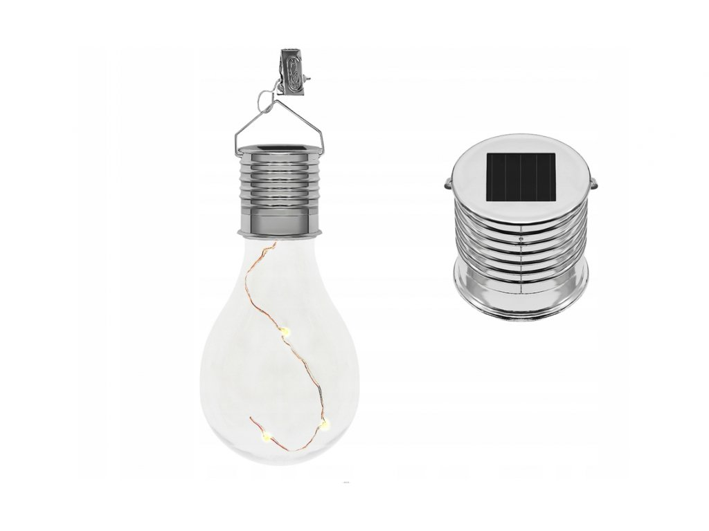 Solární LED žárovka dekorační na zavěšení