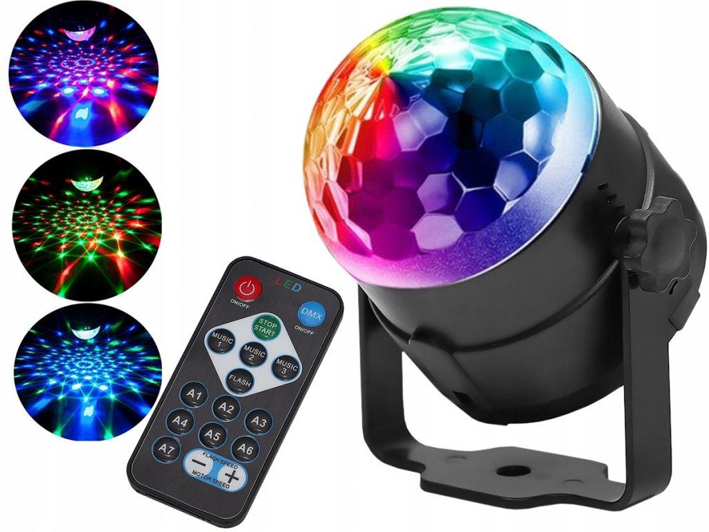 LED disko koule s dálkovým ovládáním