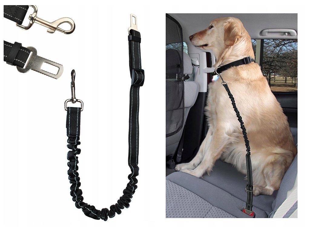 Elastický pás pro psa do Auta 25mm x 100-130cm