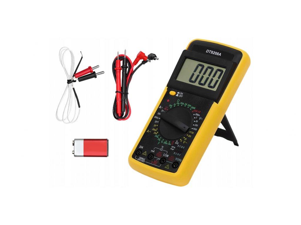 Digitální multimetr DT9208A, 1000V, 10A
