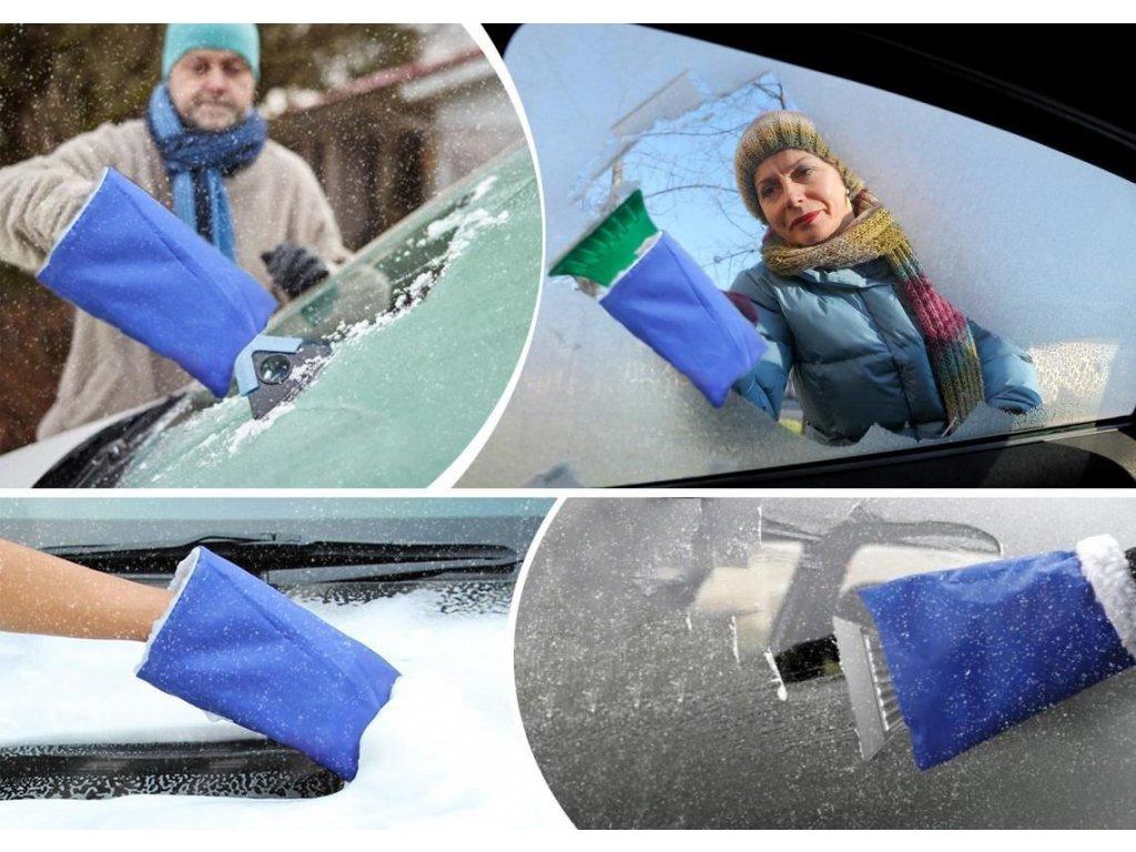 Autoškrabka s teplou rukavicí