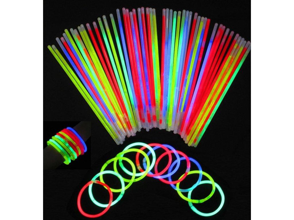 Svítící tyčinky LightStick 100 ks