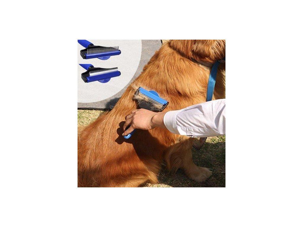 Hrablo pro psy s otočnou hlavou 2v1 - velikost L