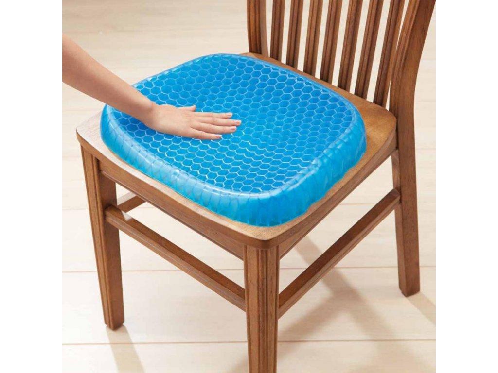 Gelový podsedák na židli s protiskluzovým obalem