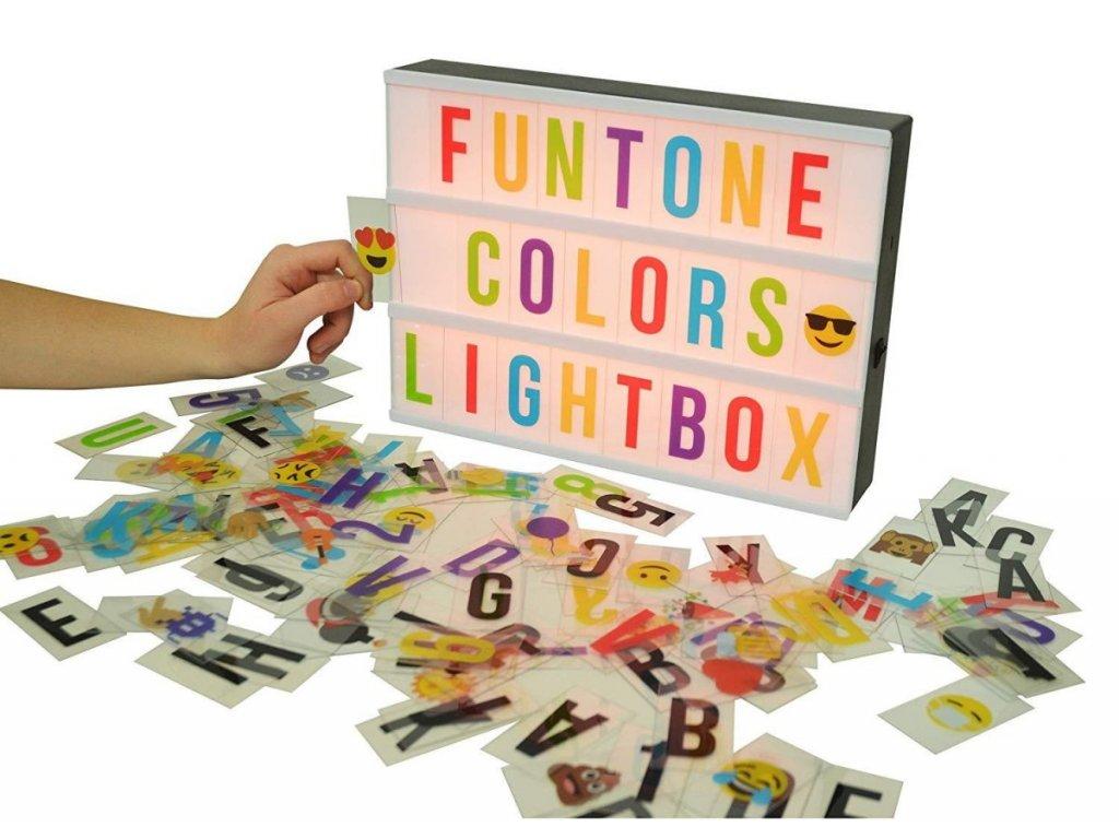 LED dekorační tabulka na vzkazy