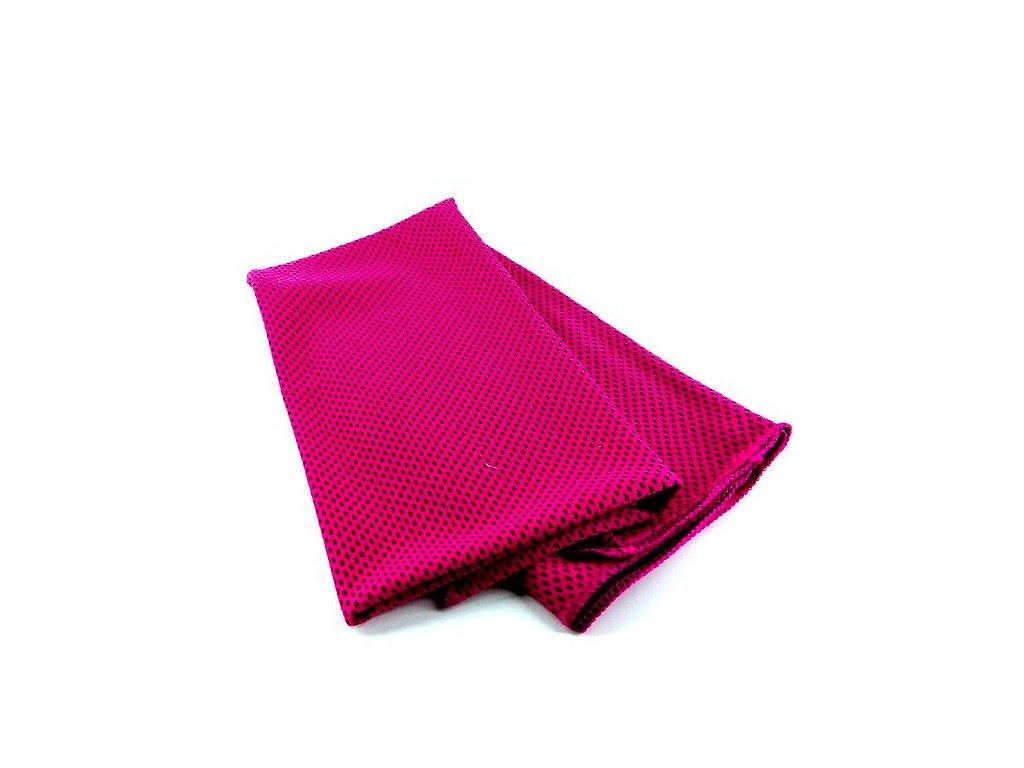 Chladící fitness ručník - růžový