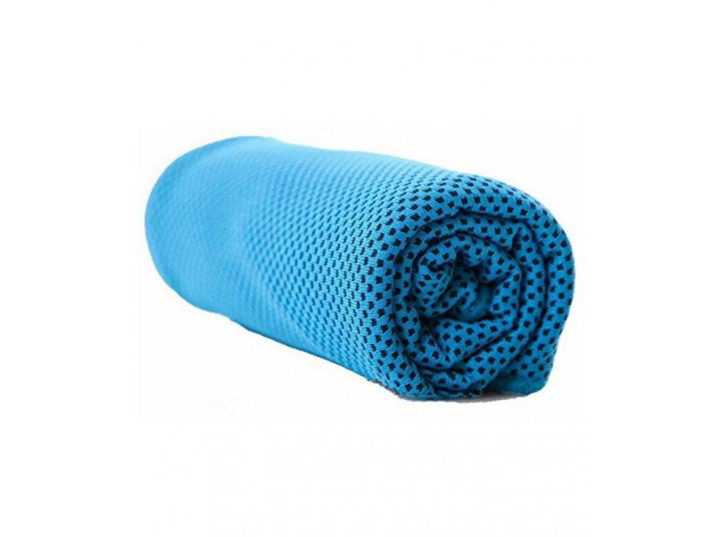 Chladící fitness ručník - modrý