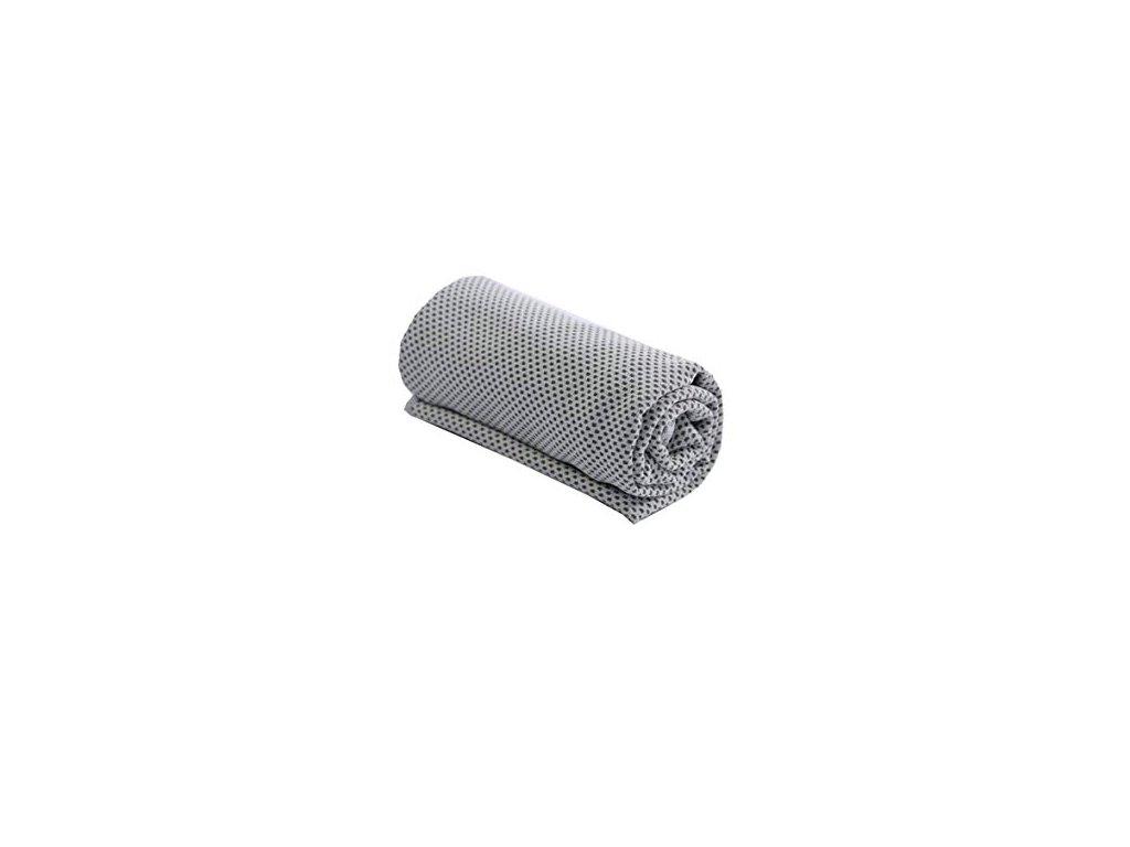 Chladící fitness ručník - šedý