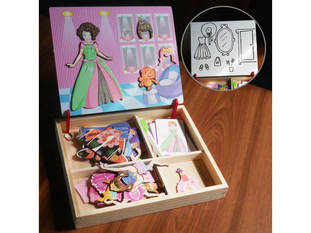 Dřevěná magnetická tabulka deluxe - Princezna