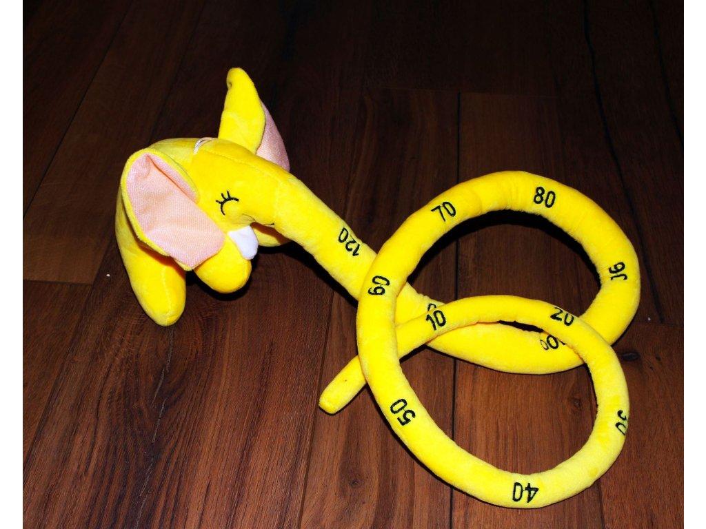 Plyšový metr - slůně - žlutý