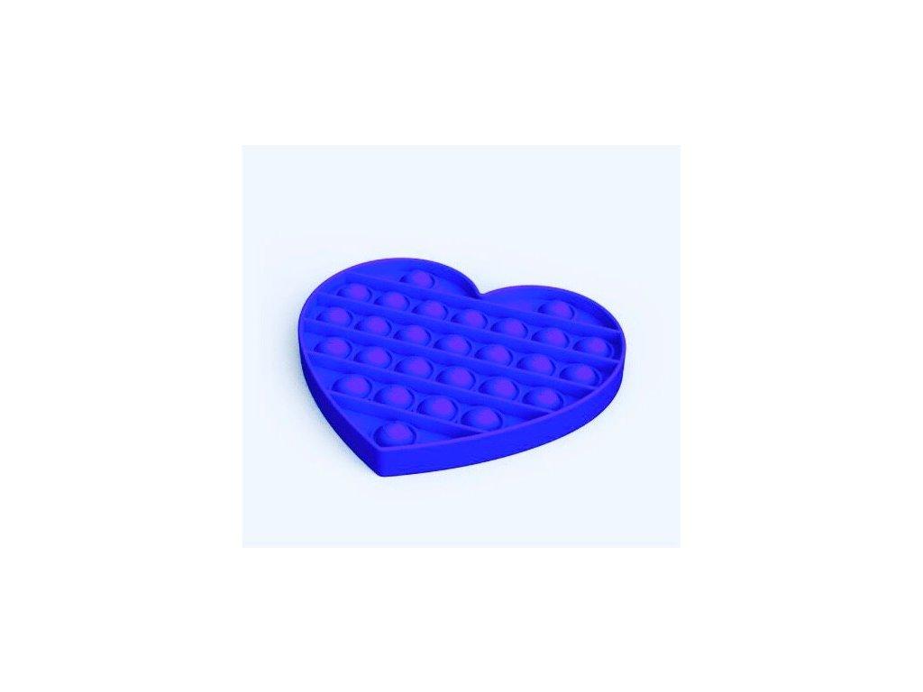 Pop it game Antistresová hra - srdce modré