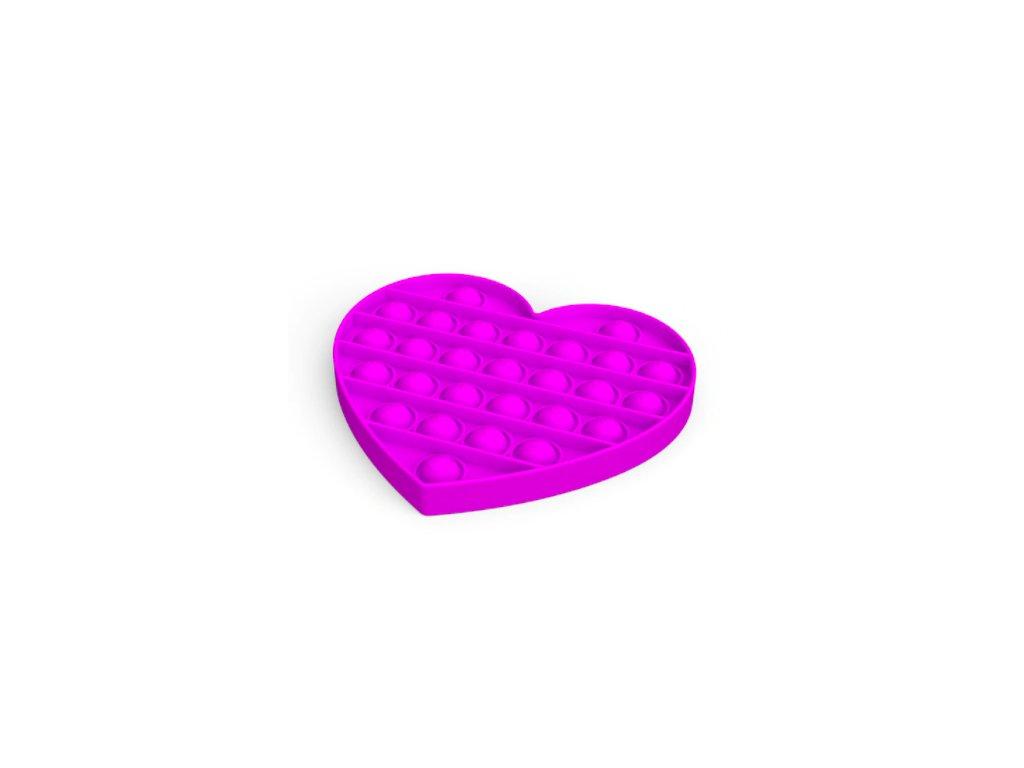 Pop it game Antistresová hra - srdce fialové