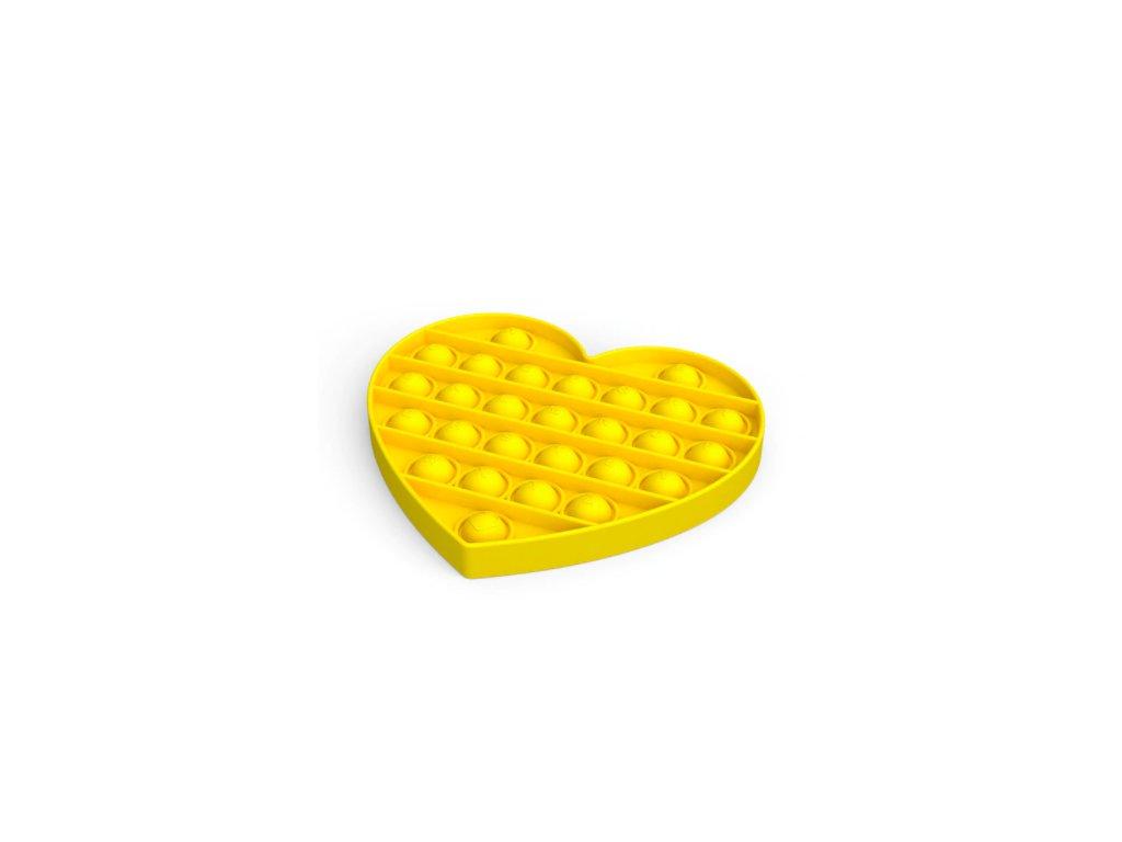 Pop it game Antistresová hra - srdce žluté
