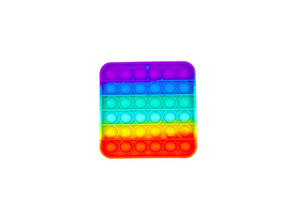 Pop it game Antistresová hra - čtverec duhový