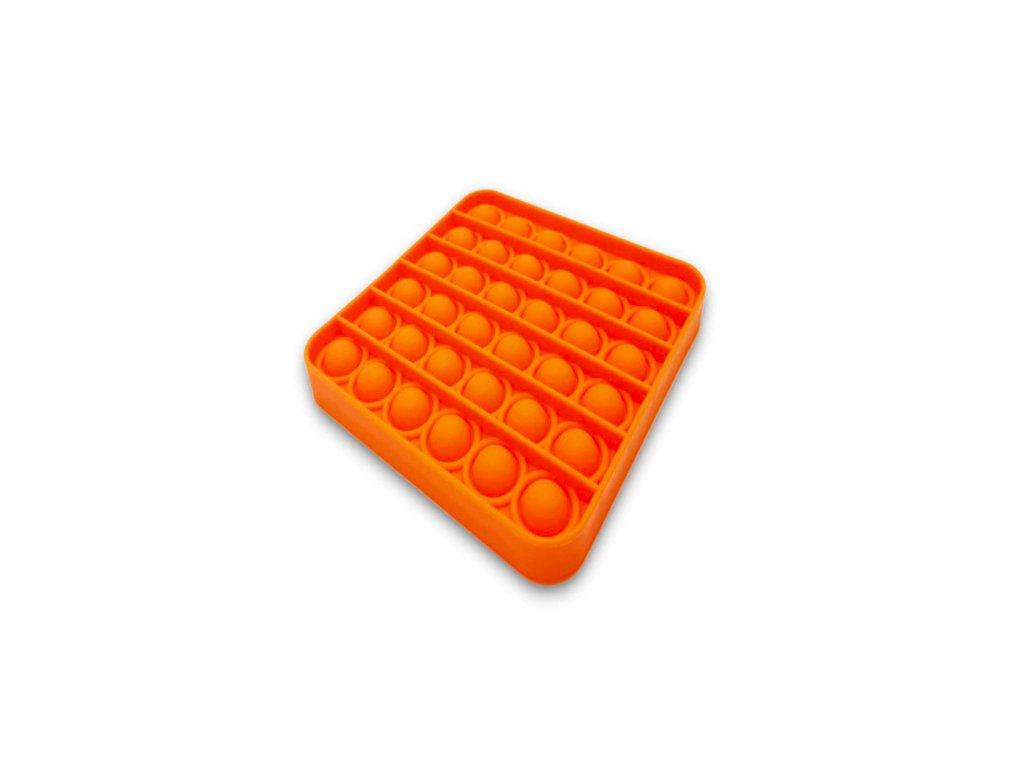 Push game Antistresová hra - čtverec oranžový