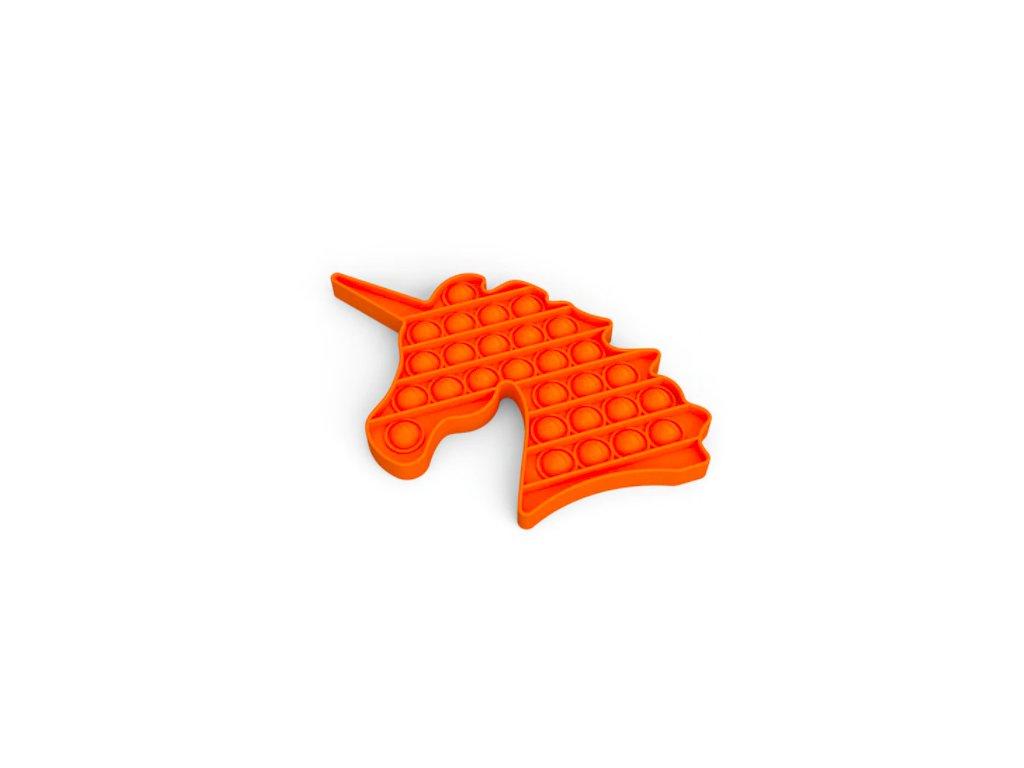 Push game Antistresová hra - jednorožec oranžový