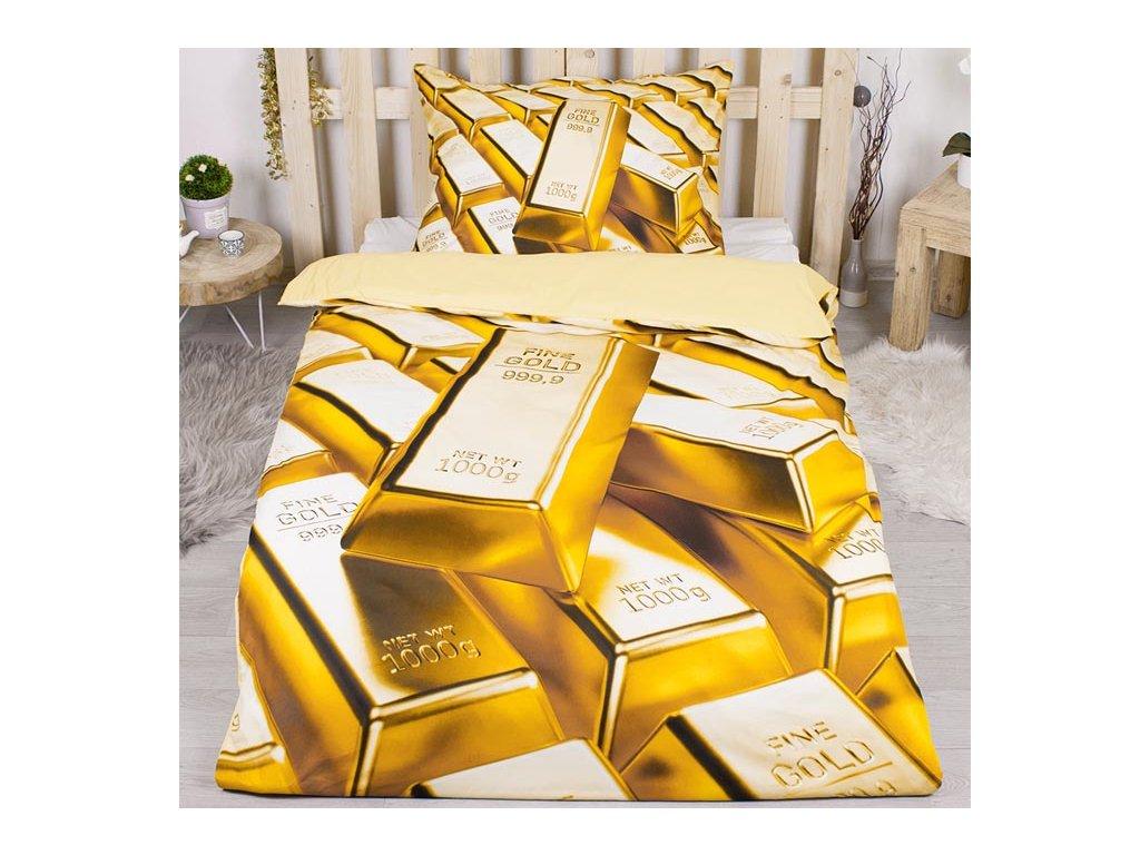 3D povlečení 140x200 + 70x90 - Gold