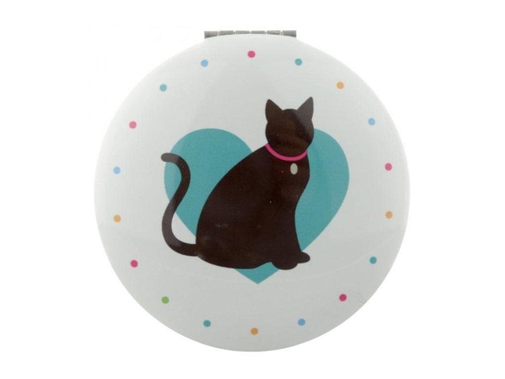 Zrcátko do kabelky s kočkou