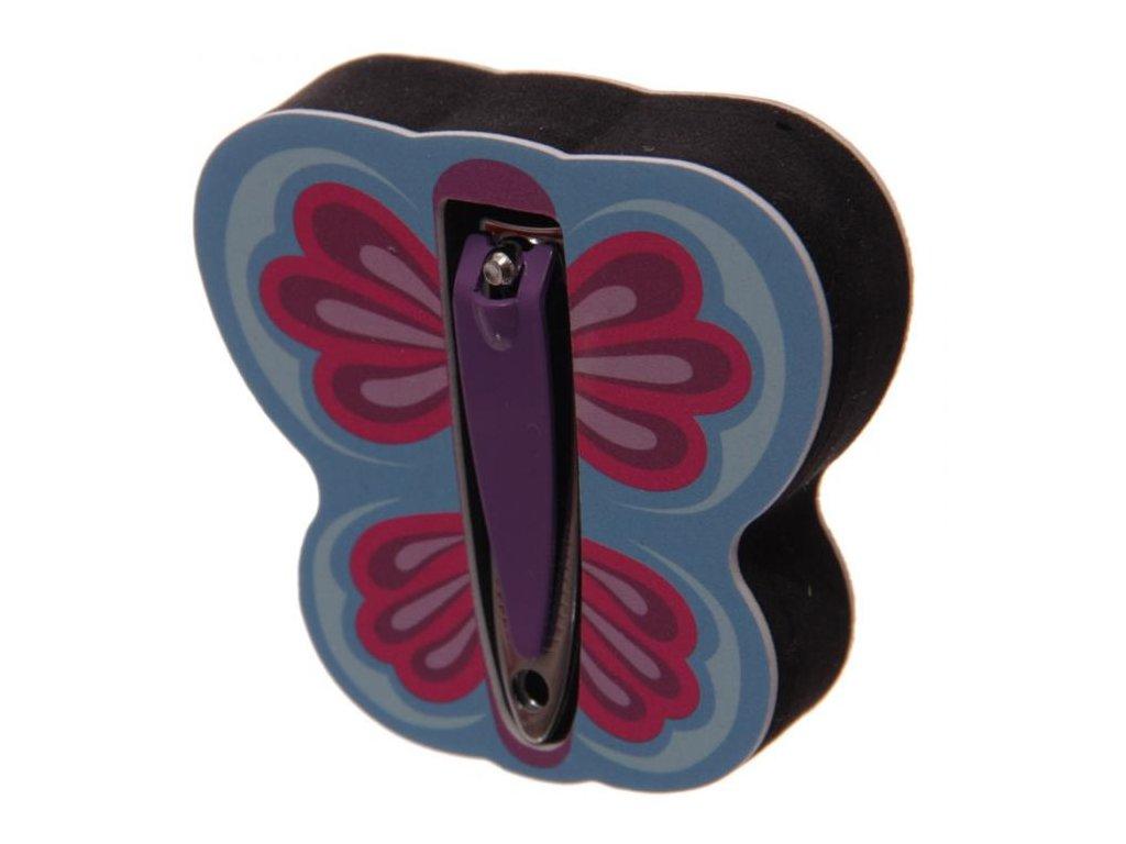 Pilníček a kleštičky na nehty Modrý motýl